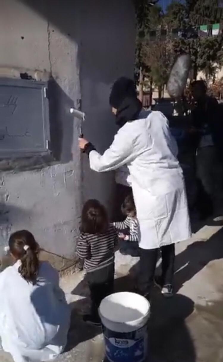 Peinture en famille